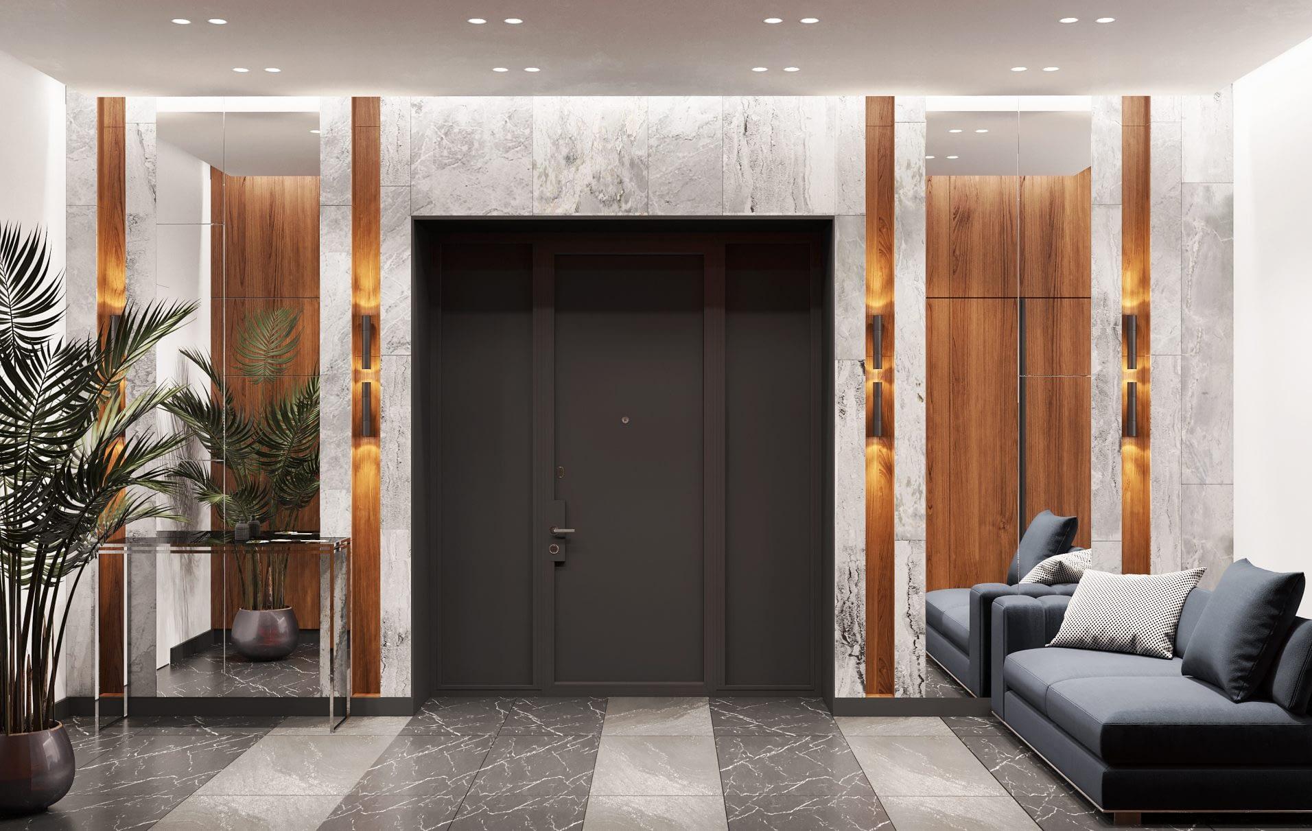 дизайн проект холла в частном доме в Киеве