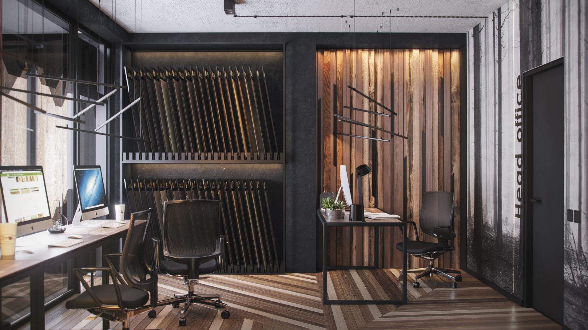 дизайн проект интерьера офиса компании Легар от Lavrov Design
