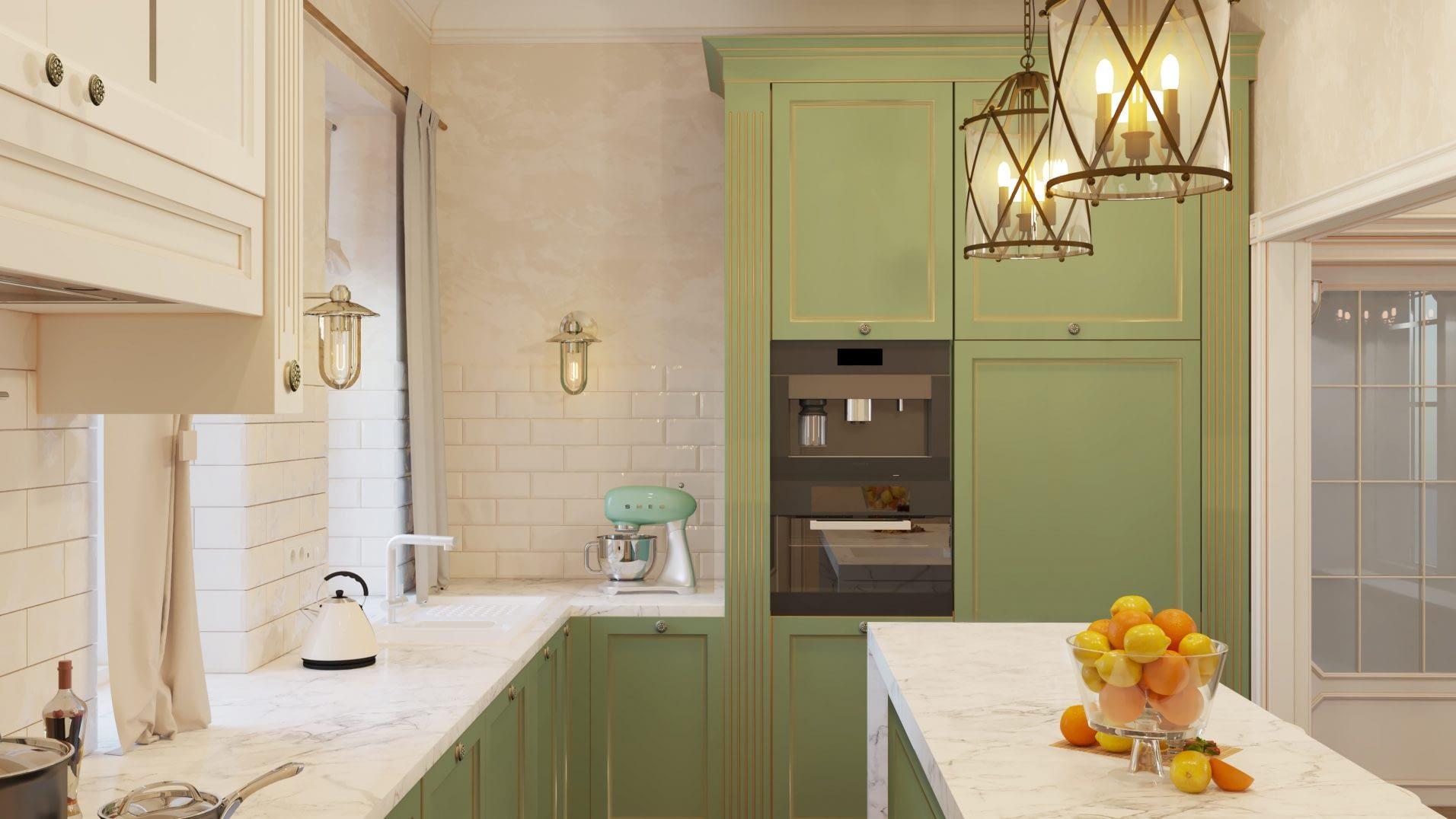 дизайн проект интерьера кухни в частном доме от Lavrov Design