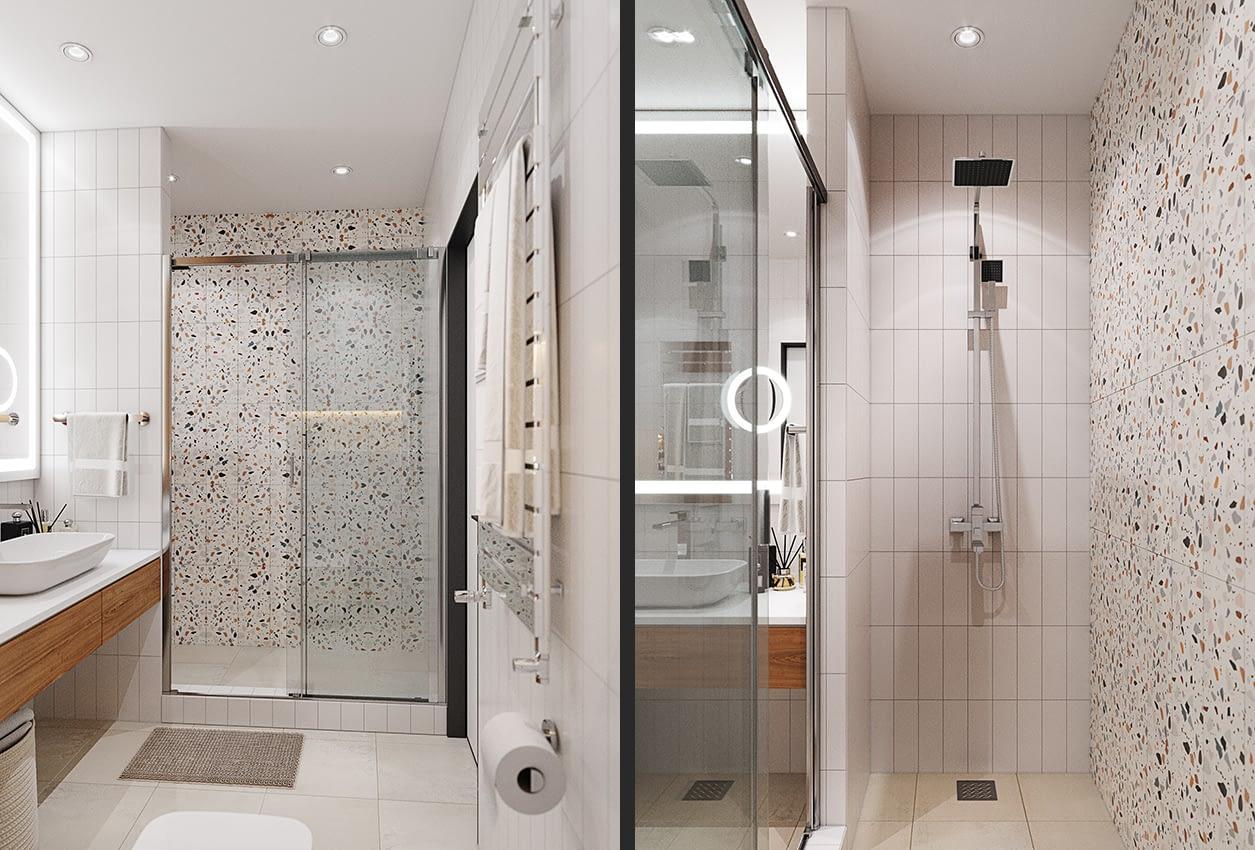 проект ванной комнаты квартиры в ЖК София Резиденс