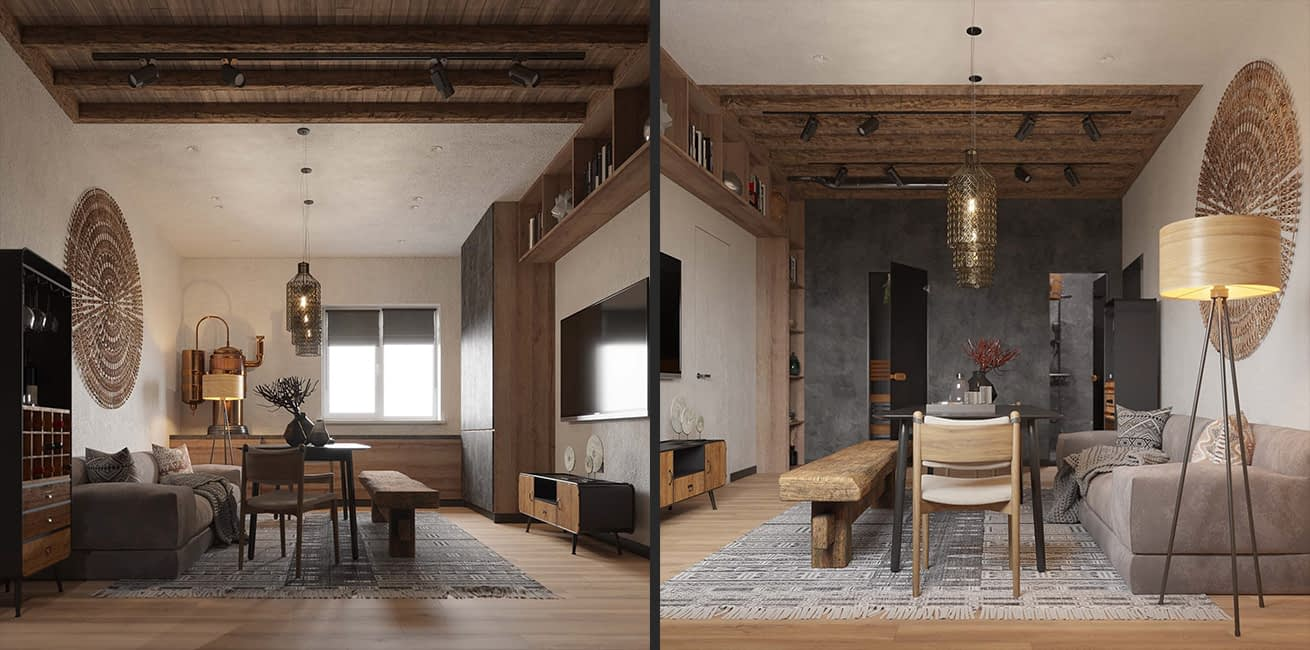 проект интерьера бани в квартире в ЖК Терракота