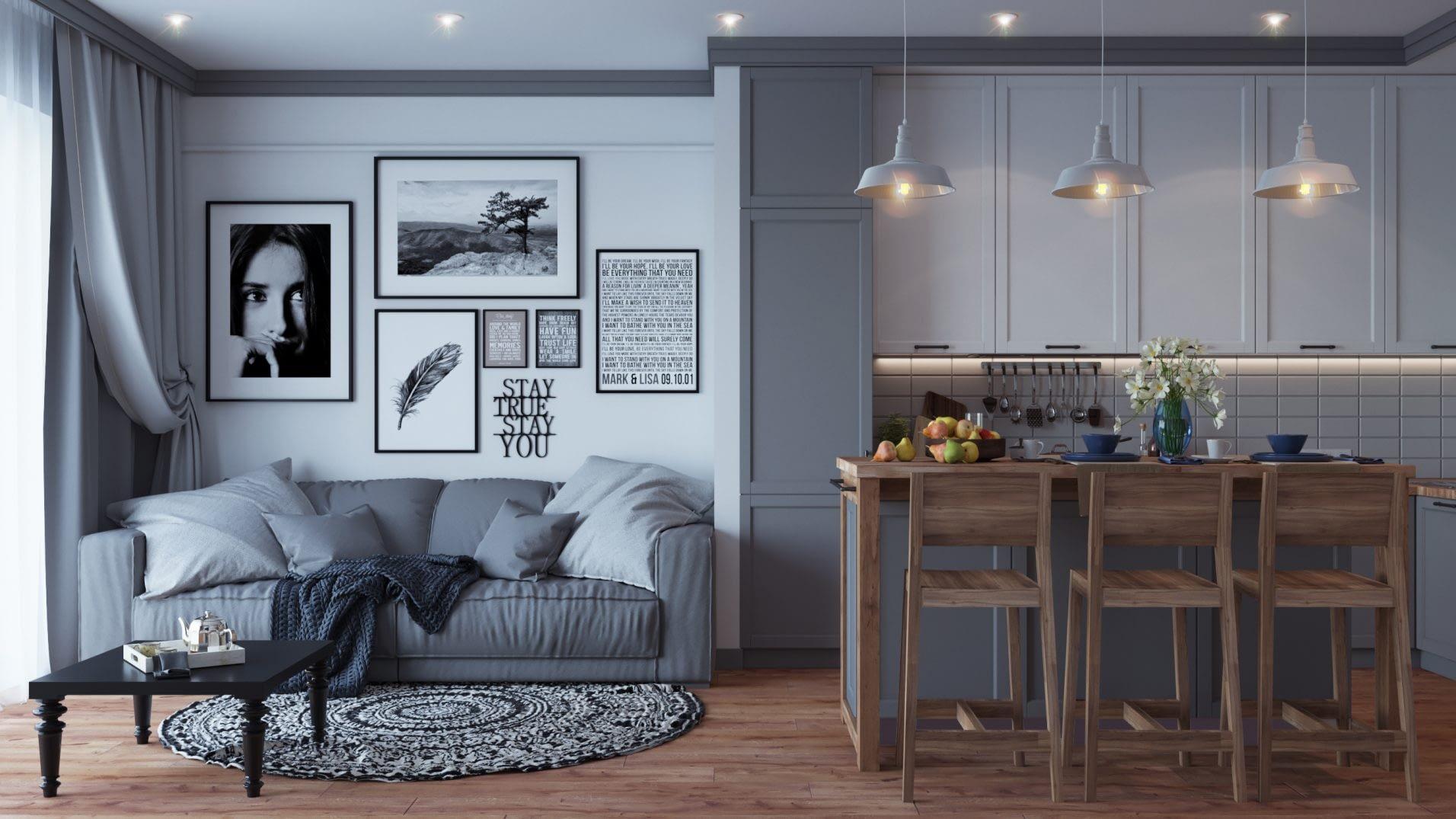 дизайн проект интерьера таунхауса в Oak Groove от Lavrov Design