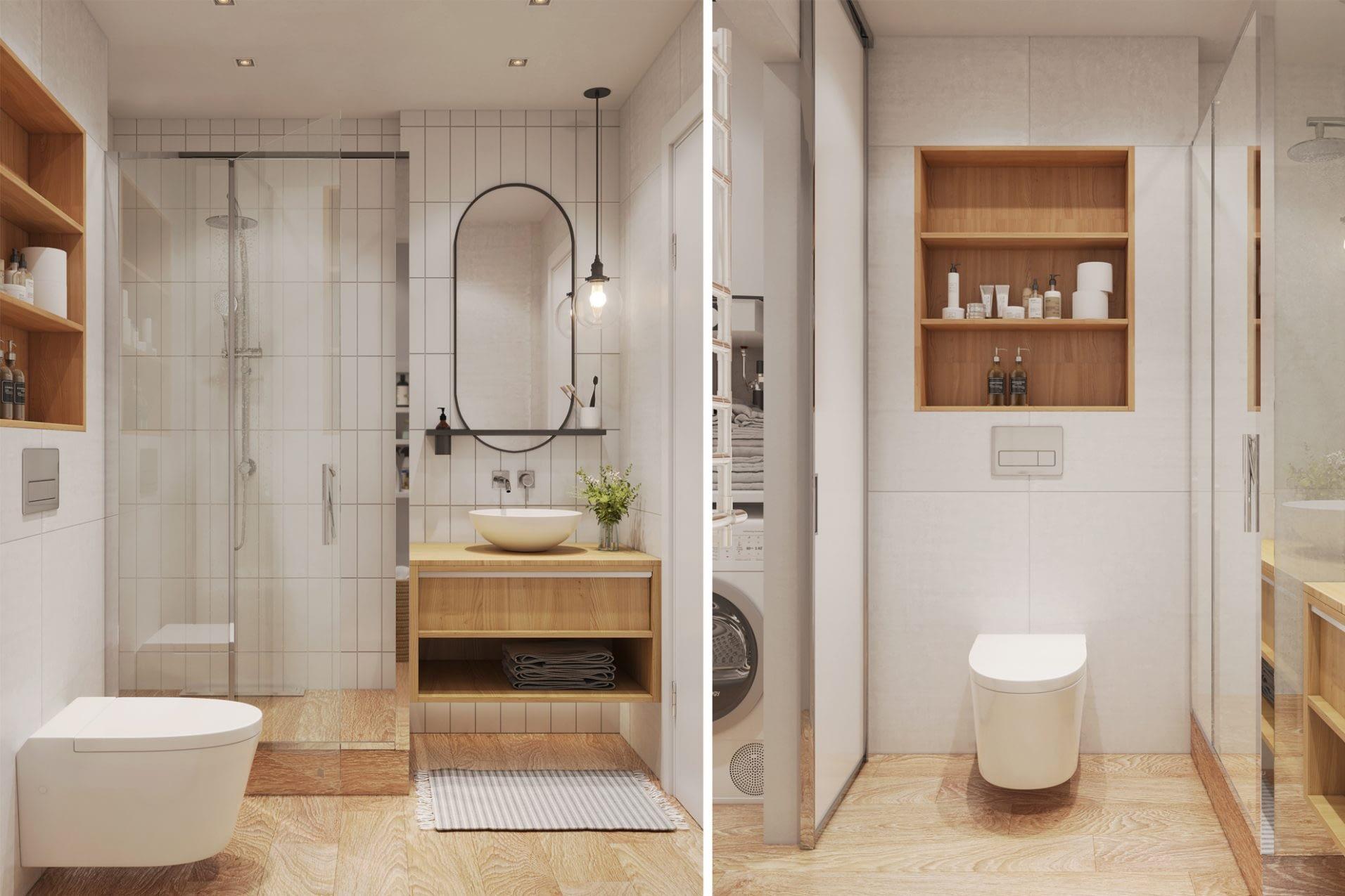 дизайн проект интерьера ванной комнаты квартиры от Lavrov Design