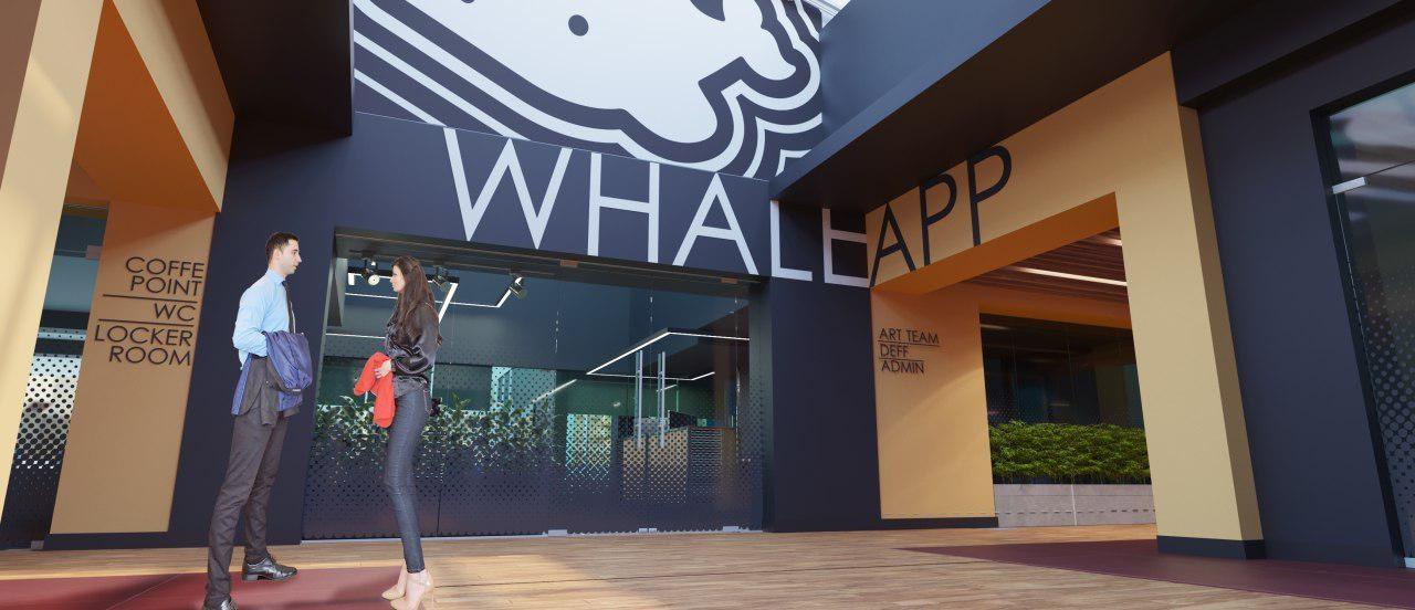 проект офиса IT-компании Whaleapp входная группа