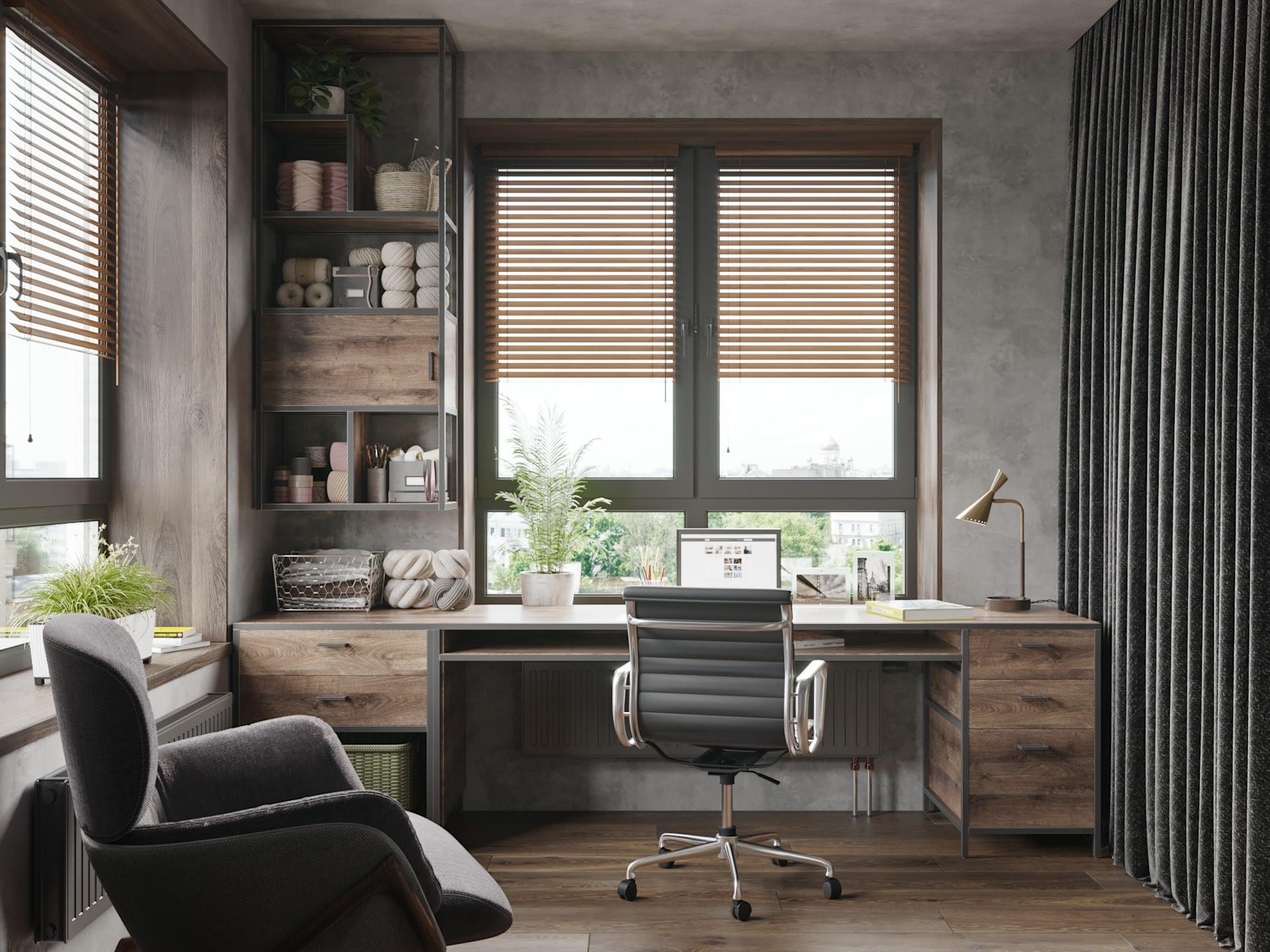 дизайн проект кабинета в квартире ЖК Хоум