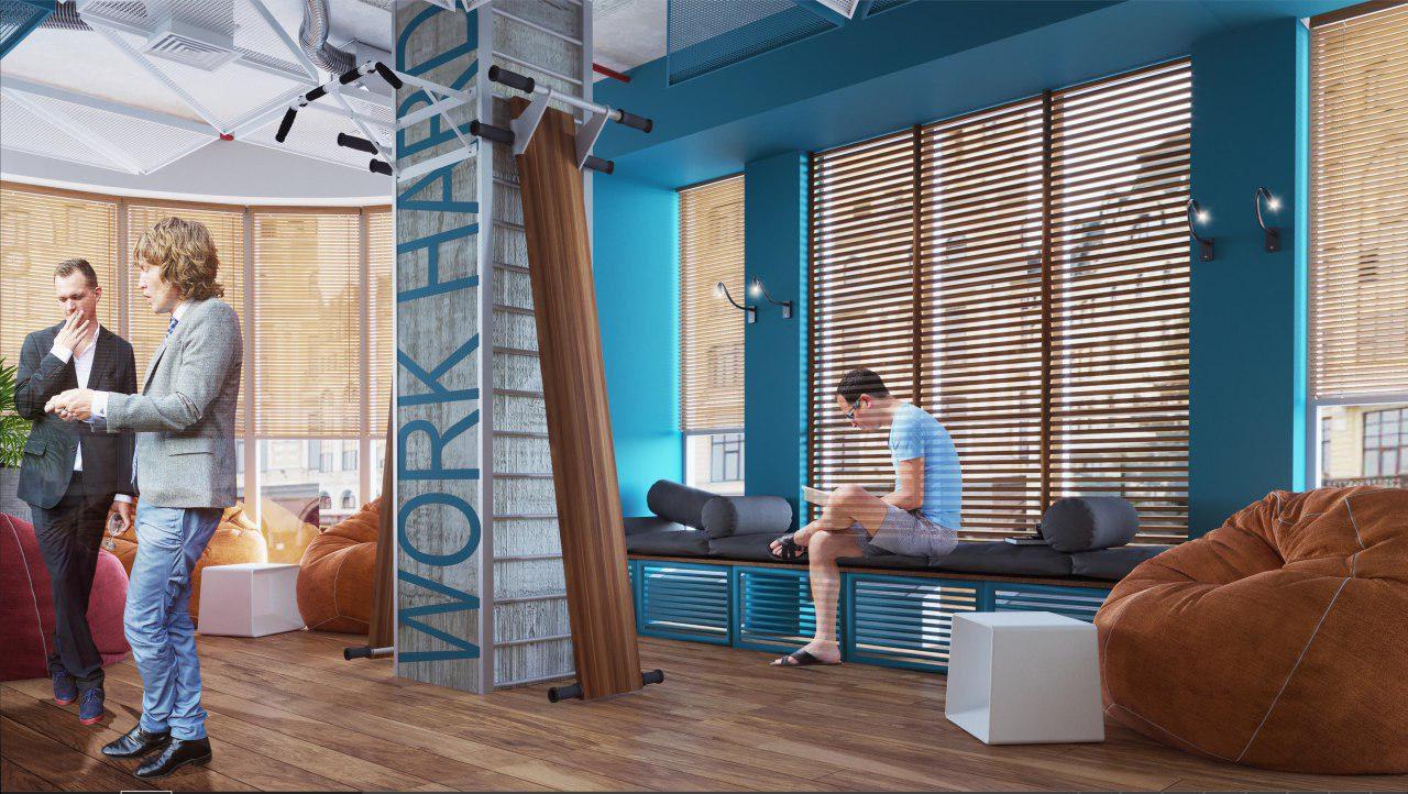 дизайн проект интерьера IT-компании Whaleapp от Lavrov Design