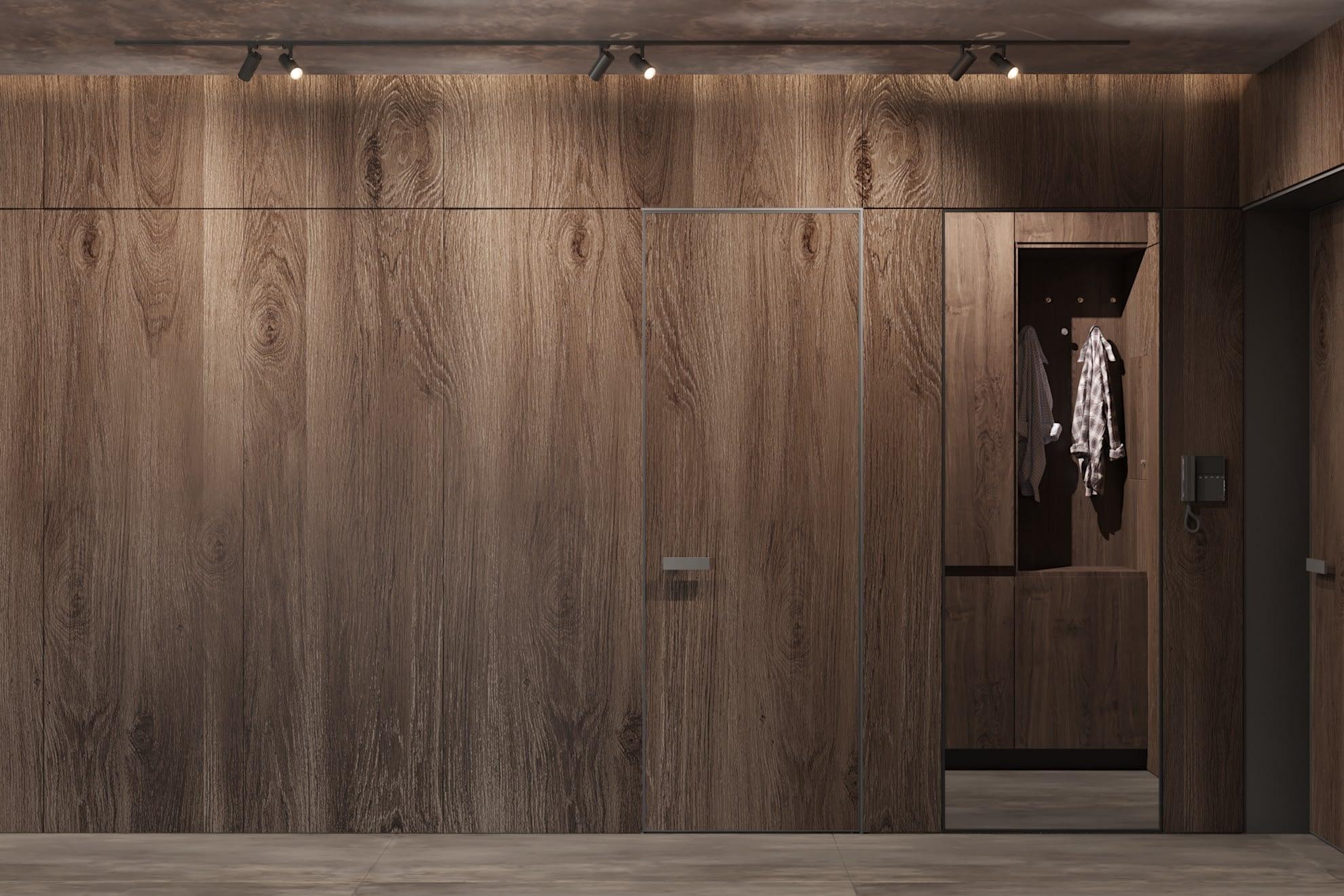 дизайн проект гардеробной в квартире ЖК Хоум