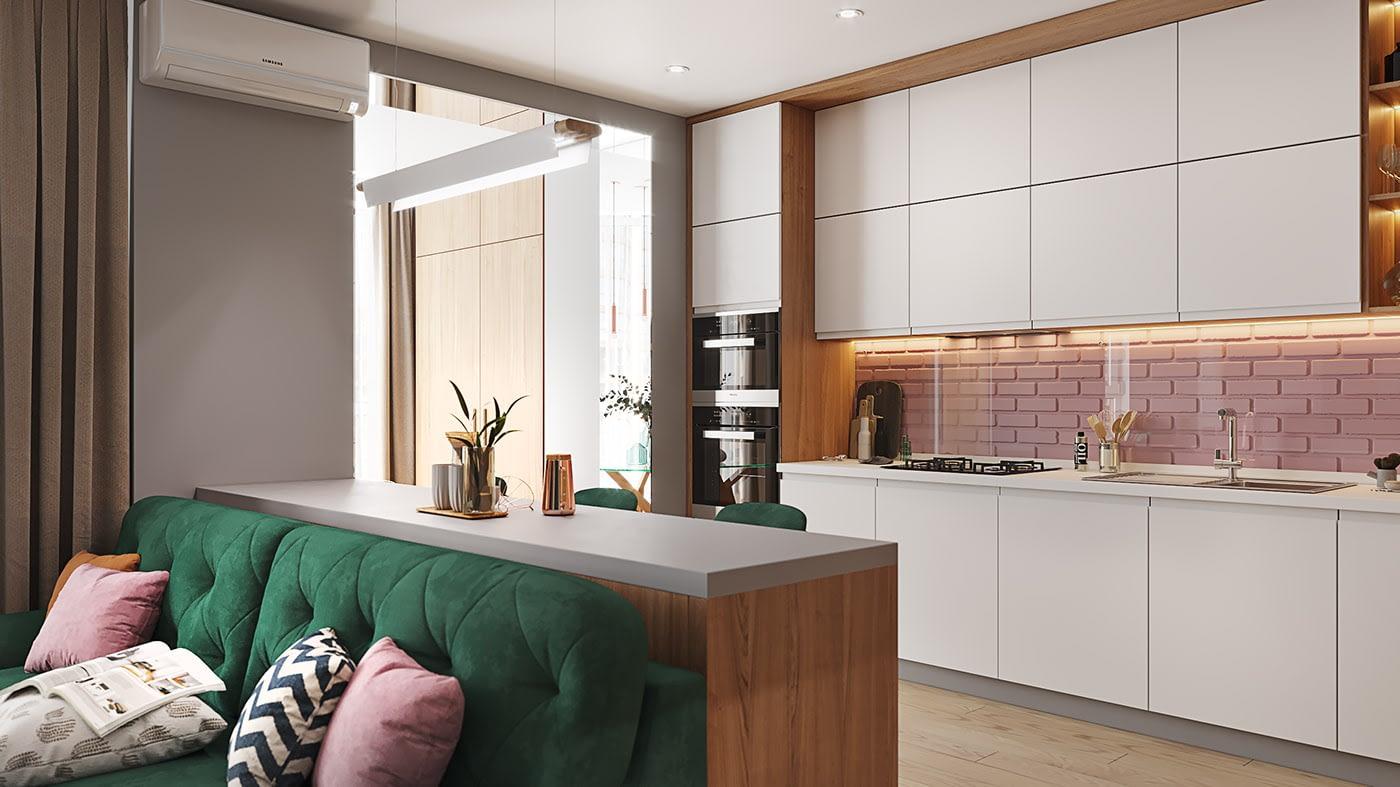 проект кухни квартиры в ЖК София Резиденс