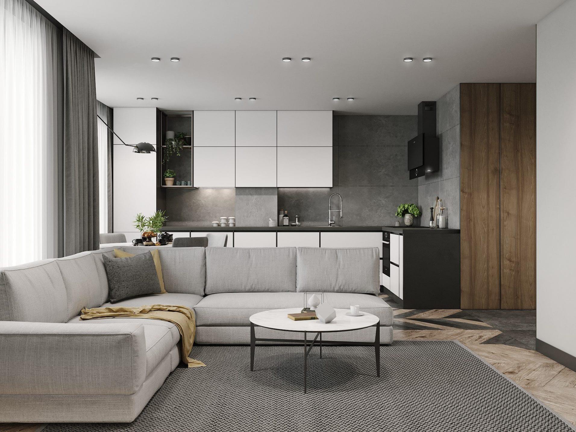 дизайн проект интерьера квартиры в ЖК Парк Лэнд от Lavrov Design