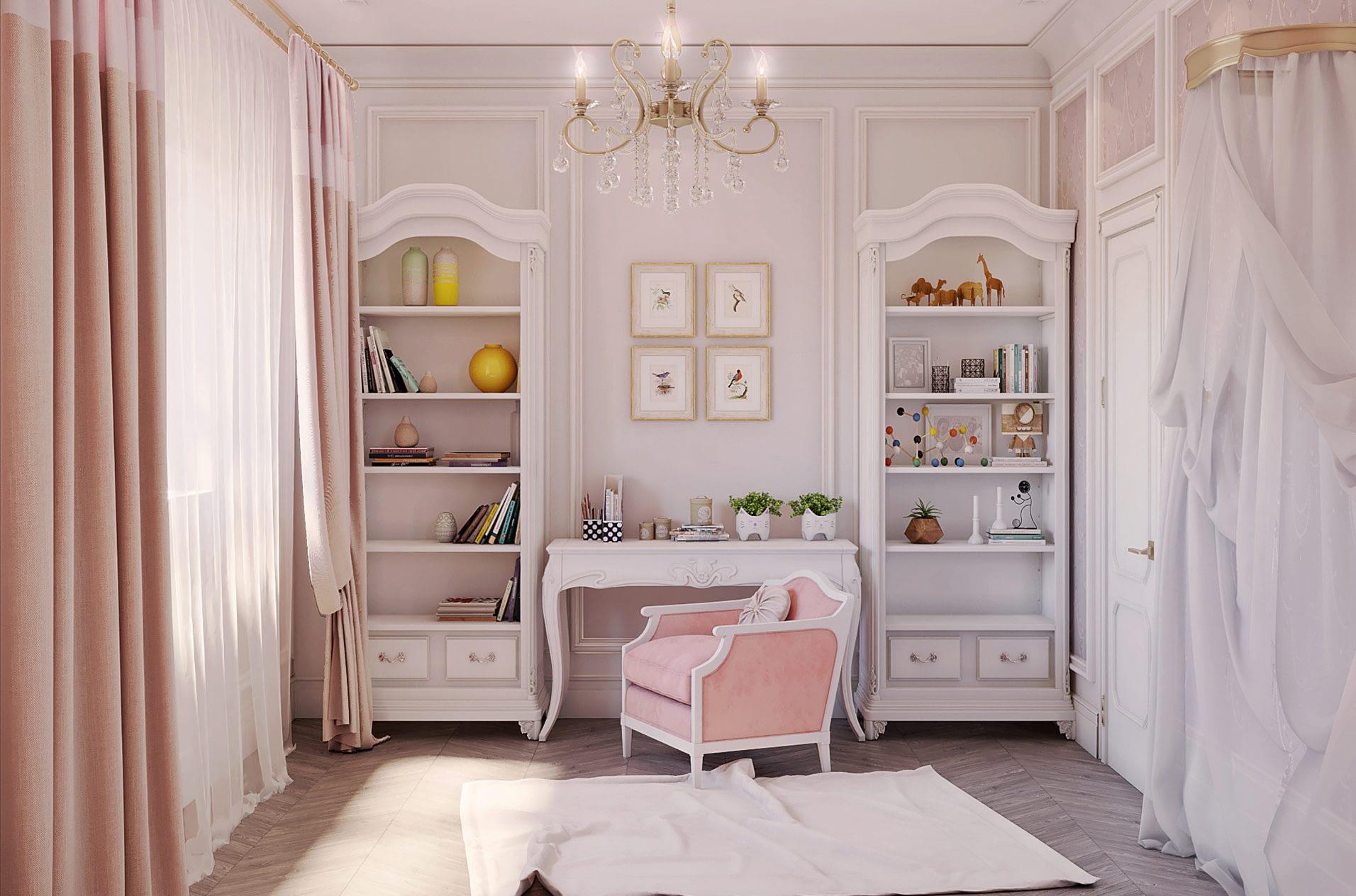 дизайн проект интерьера спальной комнаты в частном доме от Lavrov Design