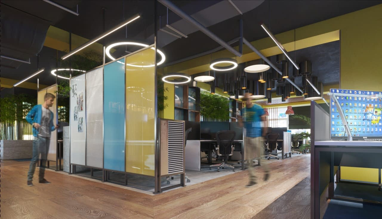 проект офиса IT-компании Whaleapp