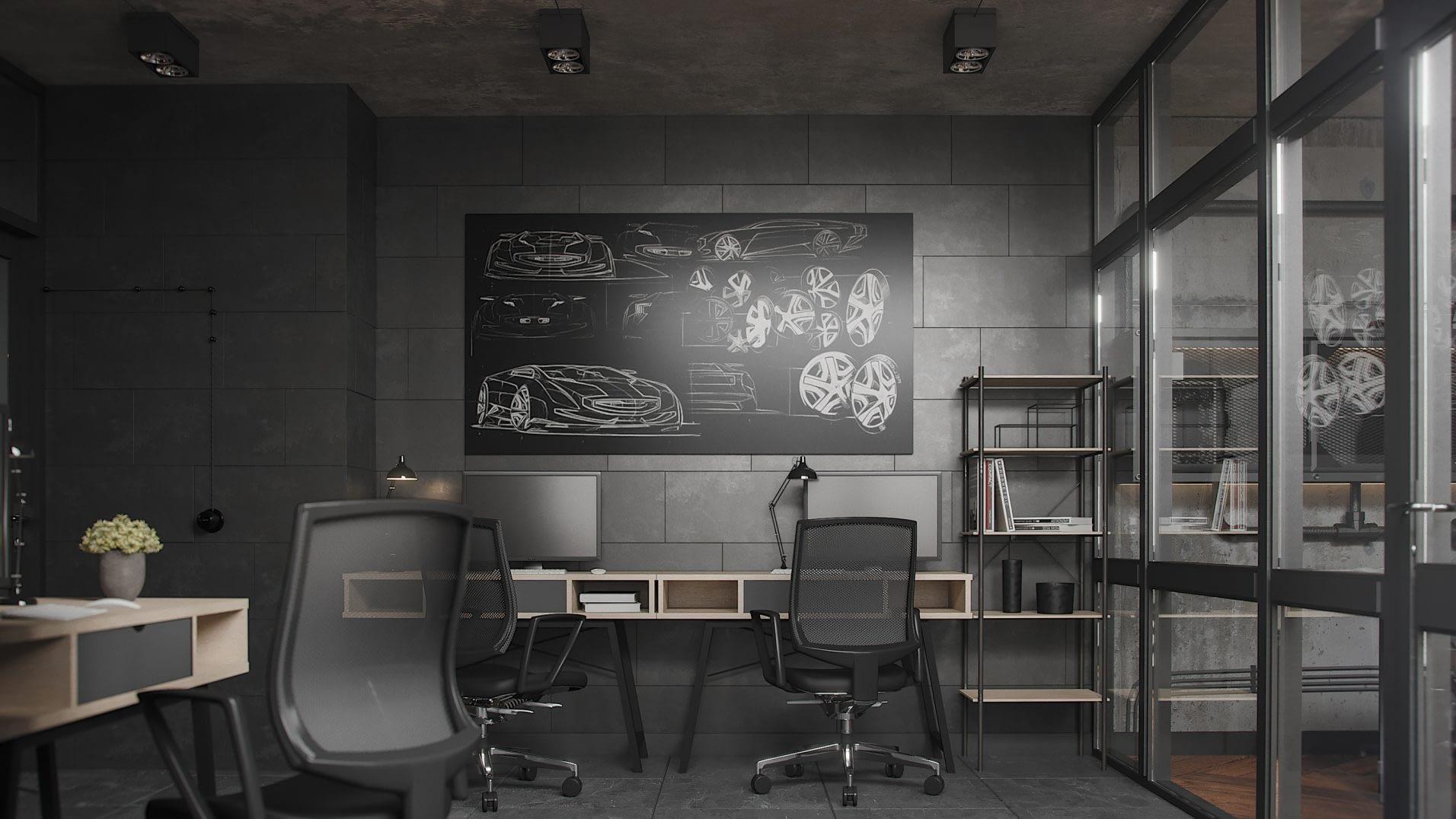 дизайн интерьера компании тюнинга авто от Lavrov Design