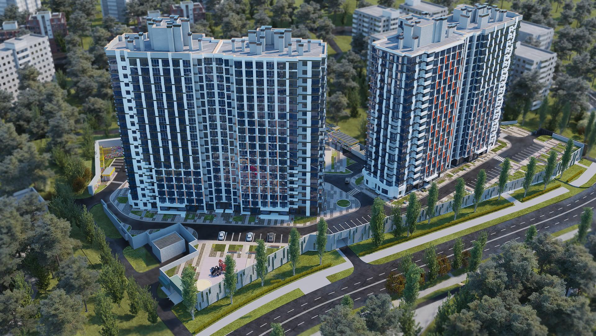 проект Жилищного Комплекса Сити Хаб вид сверху