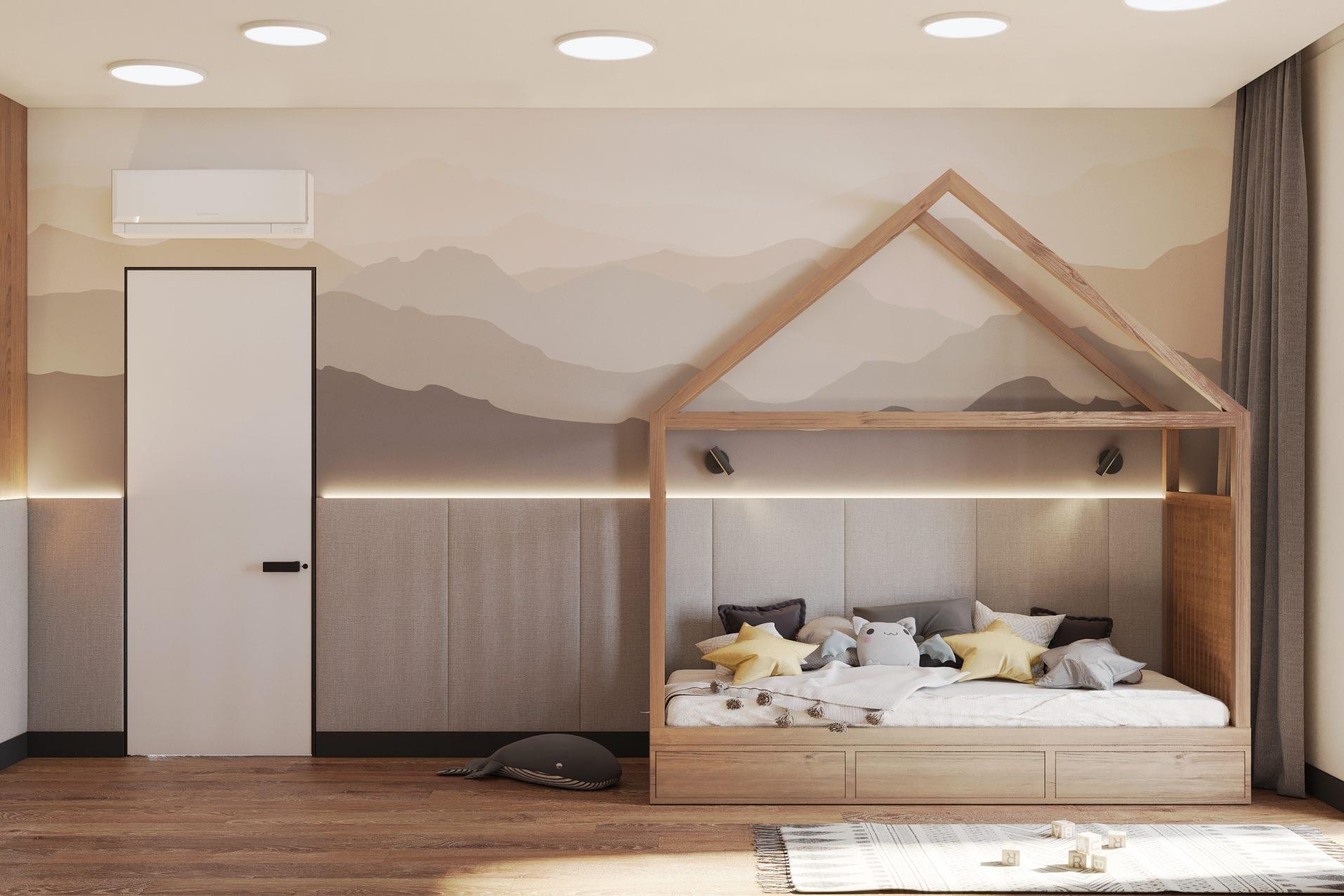 дизайн проект детской комнаты в частном доме в Киеве