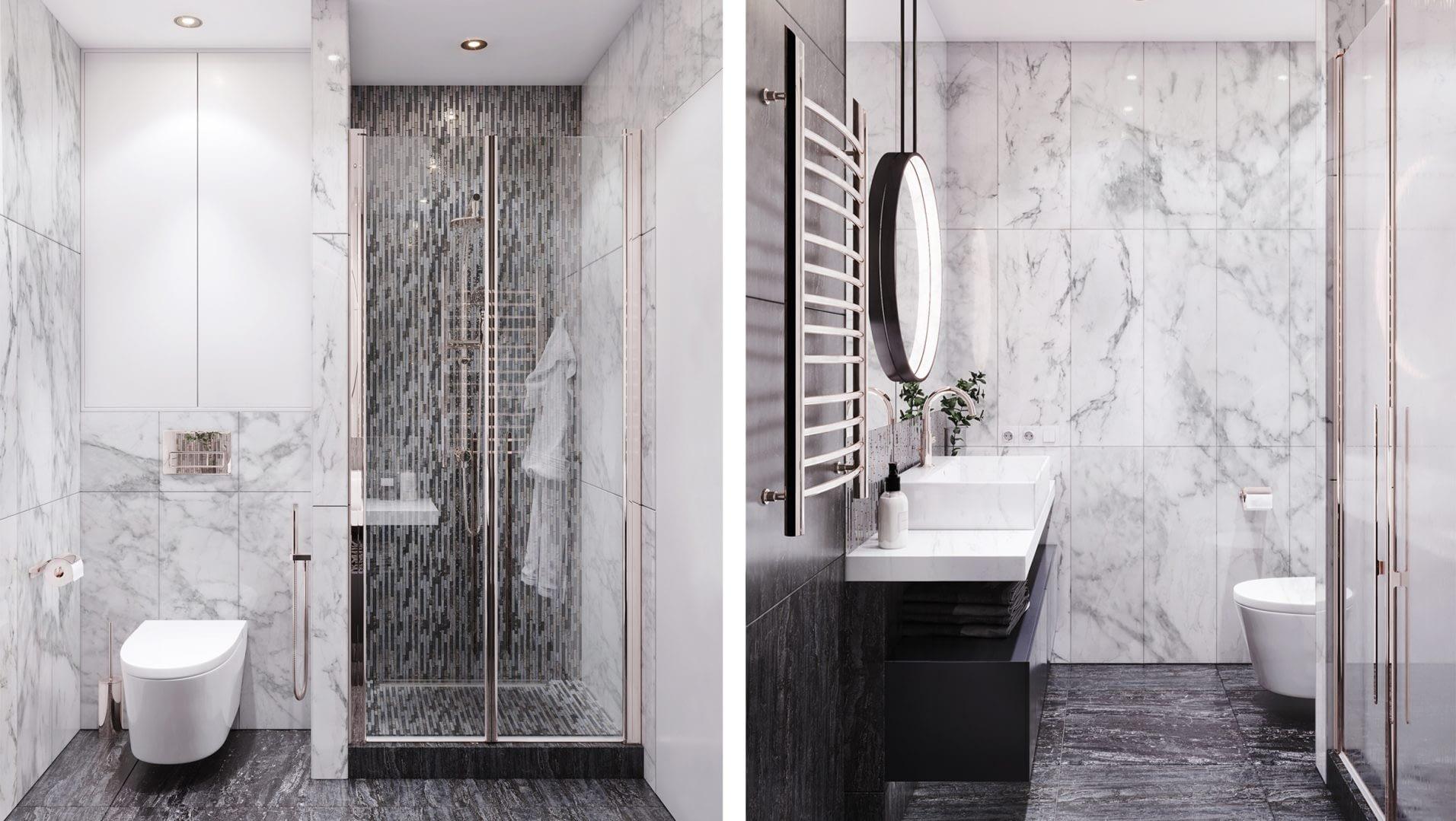 дизайн проект ванной в квартире в ЖК Французский квартал от Lavrov Design