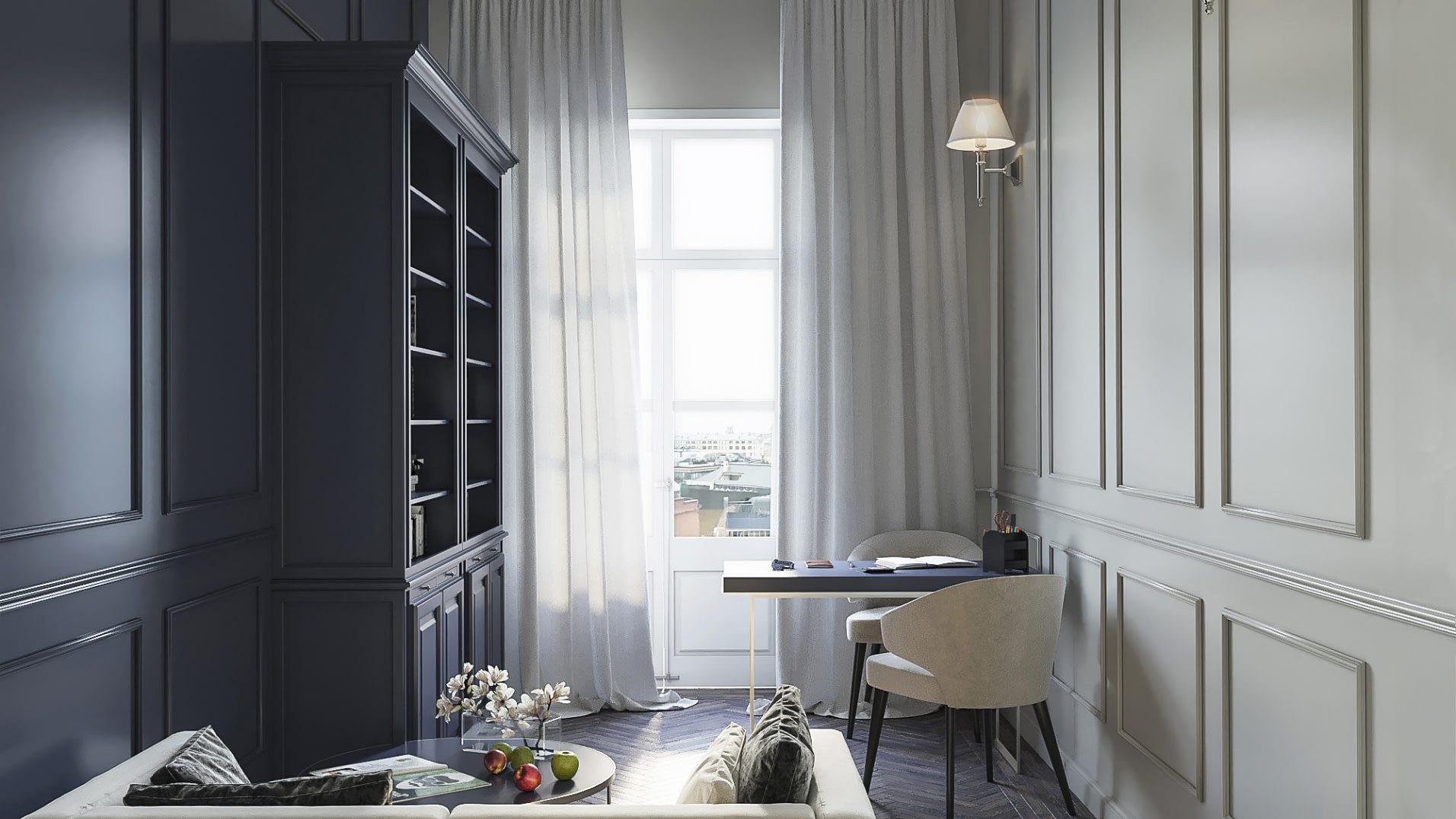 дизайн проект квартиры в стиле неоклассика