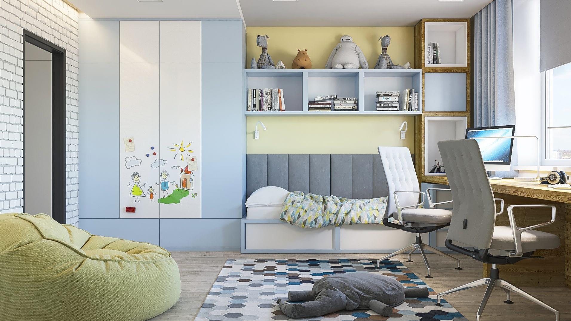 дизайн проект детской в квартире от Lavrov Design