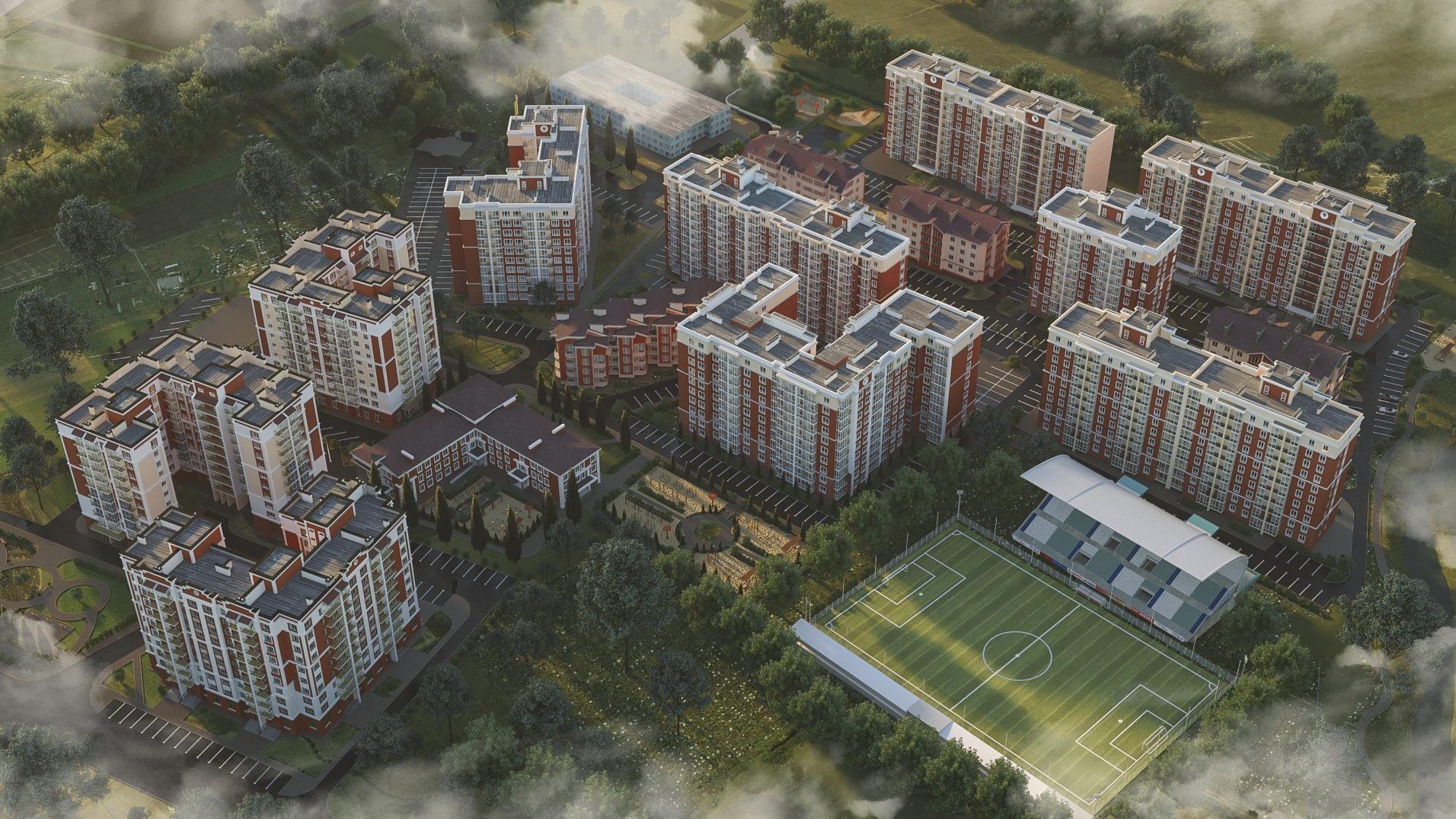 дизайн проект ЖК Покровский от Lavrov Design вид сверху