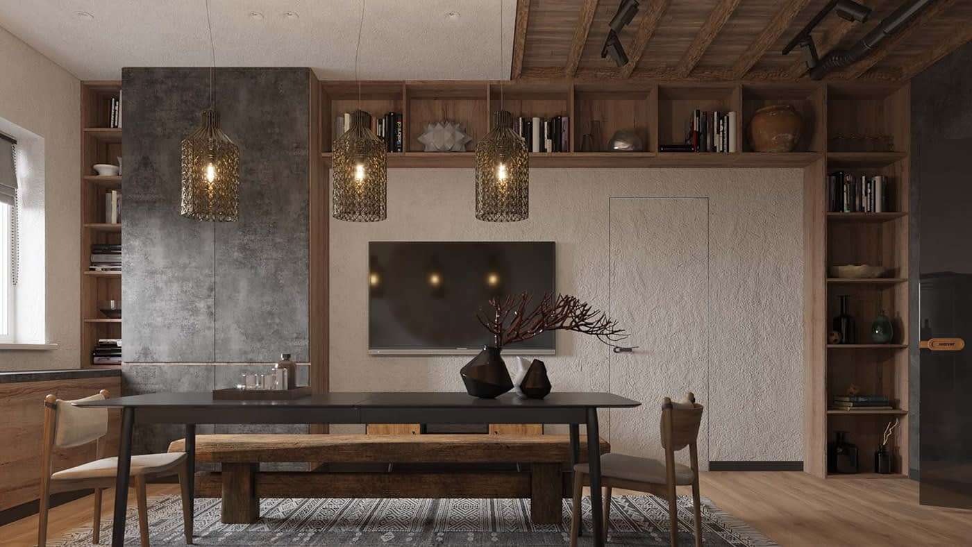проект интерьера в квартире в ЖК Терракота