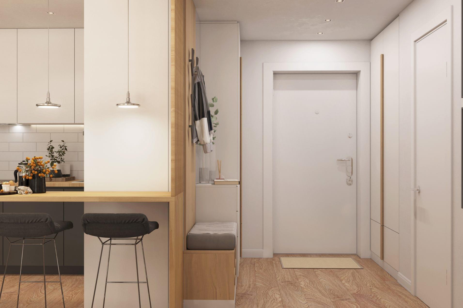 дизайн проект интерьера холла квартиры от Lavrov Design