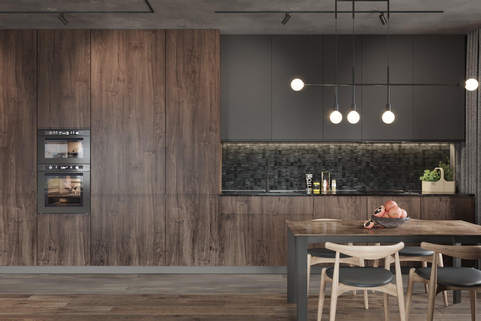 дизайн проект кухни в квартире в ЖК Хоум