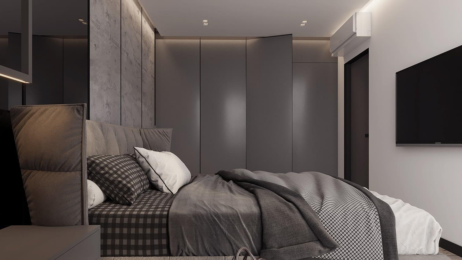 проект спальни квартиры в ЖК Славутич
