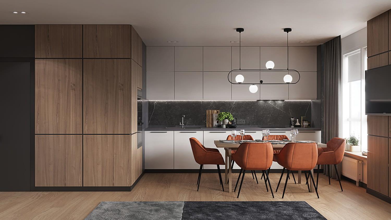 проект кухни в квартире в ЖК Владимирский