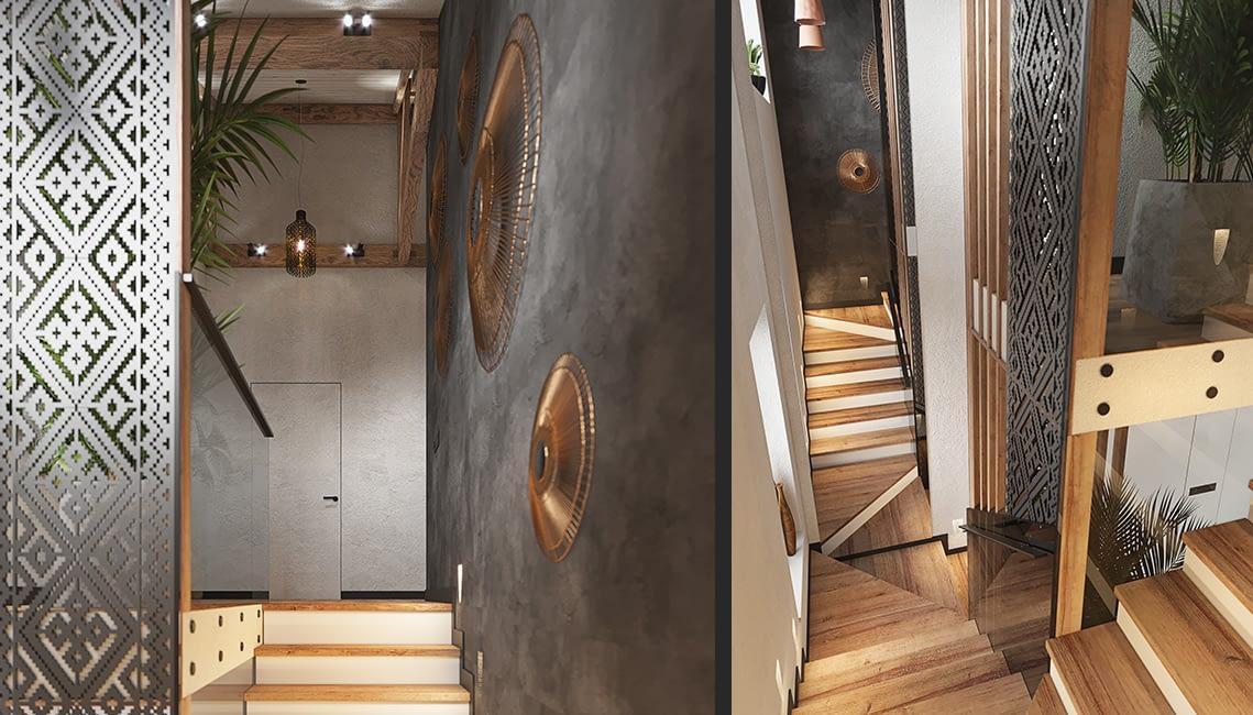 проект интерьера холла квартиры в ЖК Терракота