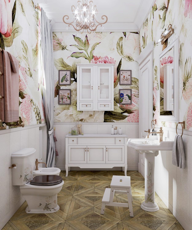 дизайн проект интерьера ванной комнаты в частном доме от Lavrov Design