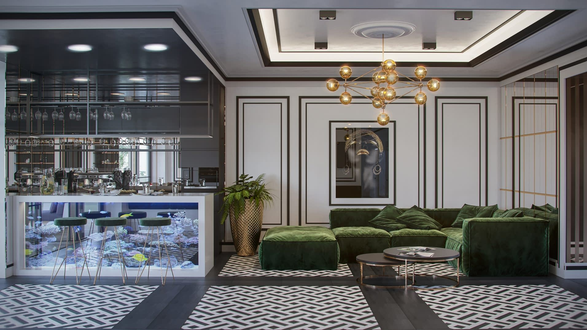 дизайн проект интерьера салона красоты от Lavrov Design