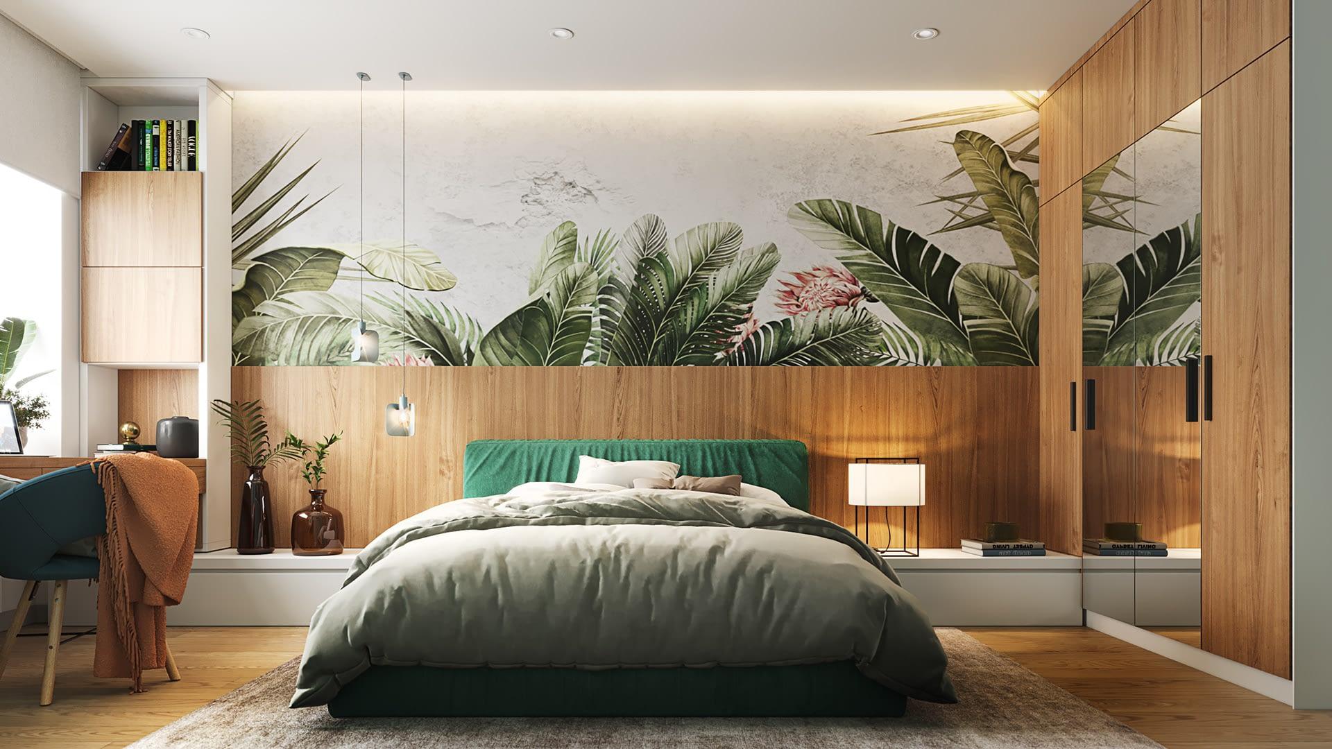 проект спальной комнаты квартиры в ЖК София Резиденс