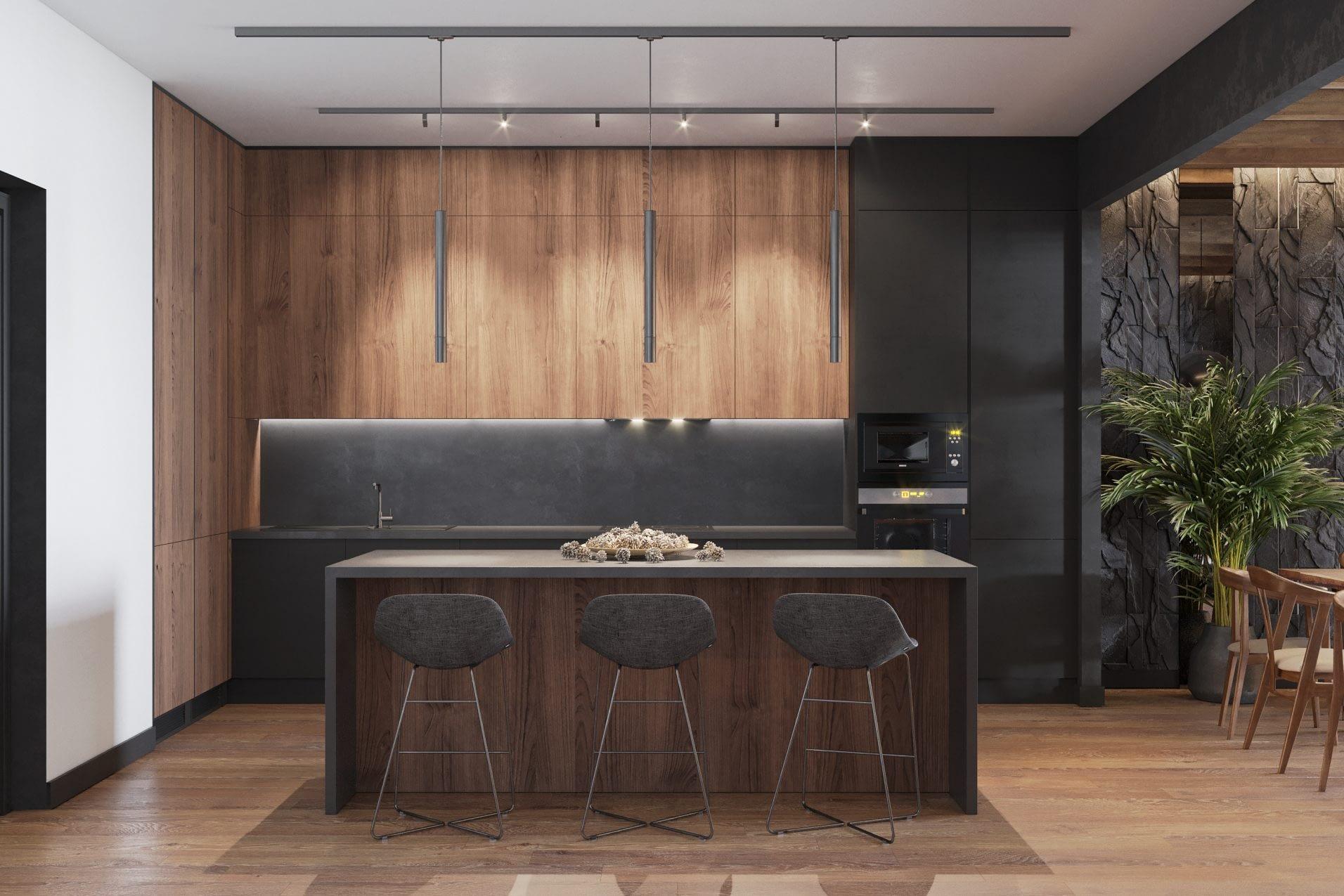 дизайн проект столовой в частном доме в Киеве